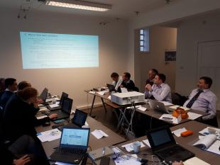 Partners discussing the programme during the Kick off meeting